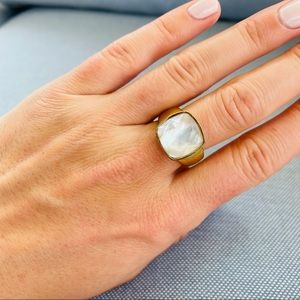 Women's Mother Of Pearl Statement Ring
